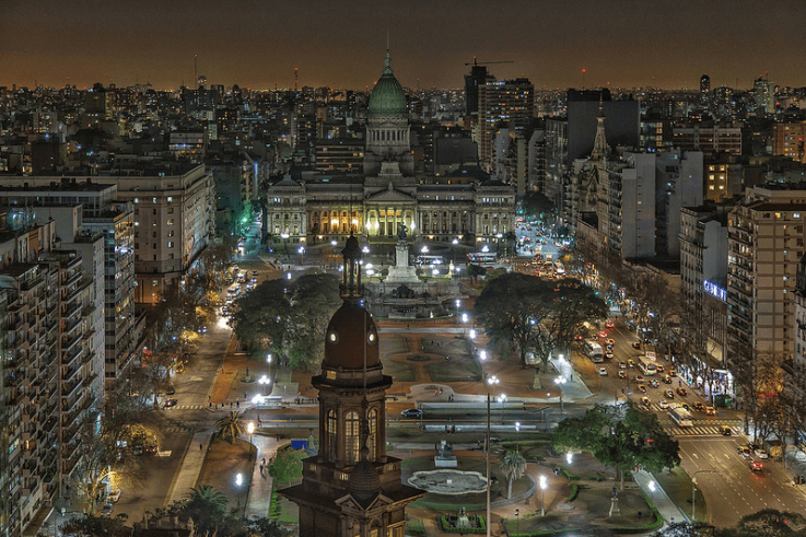 Vista aérea del Congreso Nacional